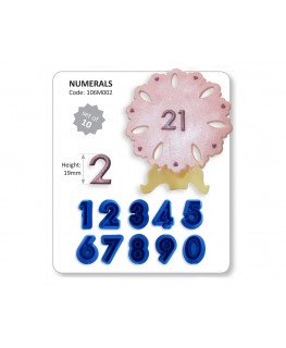 JEM Numerals Cutter Set 10pc