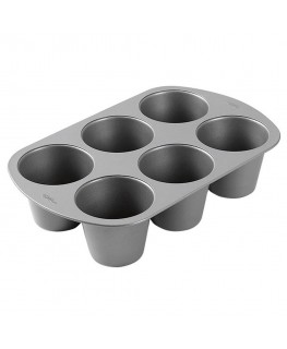 Wilton Recipe Right 6 Cup King Size Muffin Pan