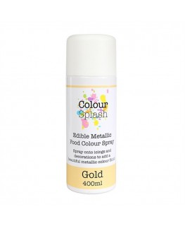 Colour Splash Edible Food Colour Spray Metallic Gold 400ml