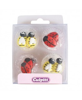 Culpitt Bee and Ladybird Sugar Pipings 12pk