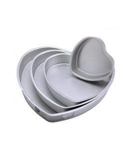 Wilton Decorator Preferred Pan Set Heart 4pc