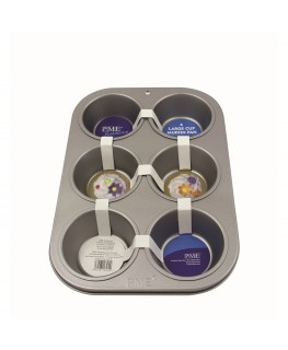 PME Non Stick 6 Cup Large Muffin Pan 31.3 x 21.7 x 4cm