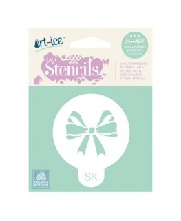 Squires Kitchen Art-ice Stencil Round Celebration Bow