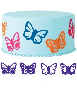 Wilton Butterflies Cake Stamp Set 4pc
