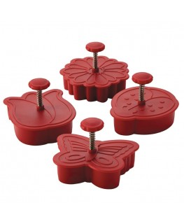 Cake Boss Spring Plunger Cutters 4pk -
