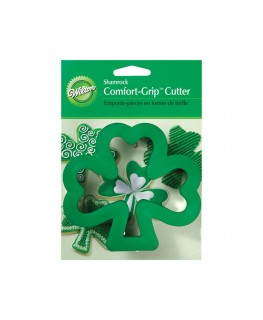 Wilton Shamrock Comfort Grip Cookie Cutter 4""