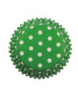 PME Green Polka Dots Cupcake Cases 60pk