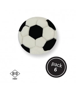 PME Football Sugar Decorations 6pk