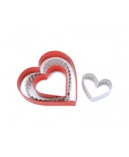 Wilton From the Heart Nesting Metal Cutter Set 4pc