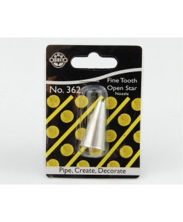 JEM Fine Tooth Open Star Nozzle #362