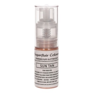 Sugarflair Powder Puff Glitter Dust Sun Tan 10g