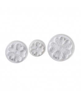 Pavoni Flowers Plunger Cutter Set 3pc