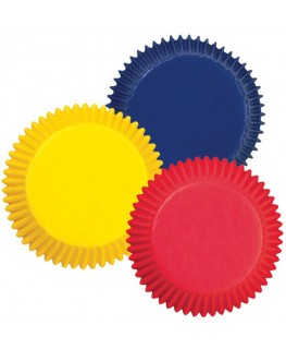Wilton Assorted Primary Colors Standard Cupcake Cases 75pk