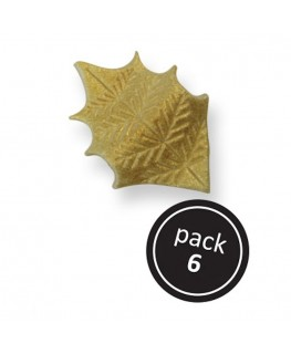 PME Gold Holly Leaves 6pk