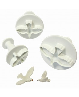 PME Dove Plunger Cutter Set 3pc (33mm, 42mm, 50mm)