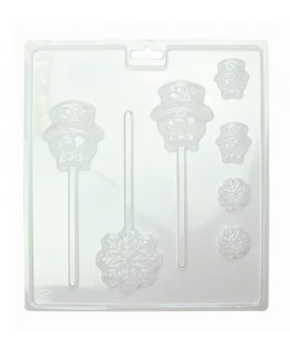 PME Winter Snow Lollipop Mould