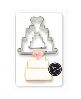 PME Cookie & Cake Wedding Cake Cutter 2pc