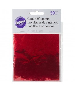 Wilton Red Foil Candy Wrappers