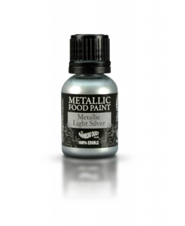 Rainbow Dust Metallic Food Paint Light Silver 25ml