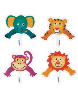 Wilton Jungle Pals Pops Fun Pix 8pk