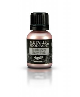 Rainbow Dust Metallic Food Paint Pearlescent Baby Pink 25ml