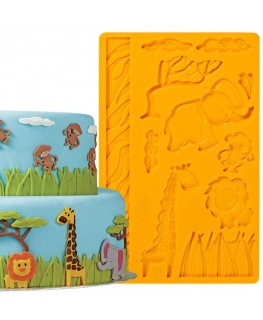 Wilton Jungle Animals Fondant/Gum Paste Mould