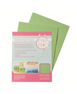 Cake Star Wafer Paper - Green 12pk