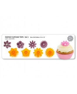 JEM Fantasy Cupcake Tops Cutters (Set 1) 4pc
