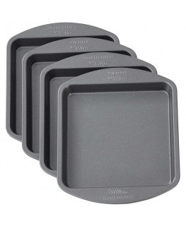 "Wilton Easy Layers! 6"" Square Cake Pan Set 4pc"