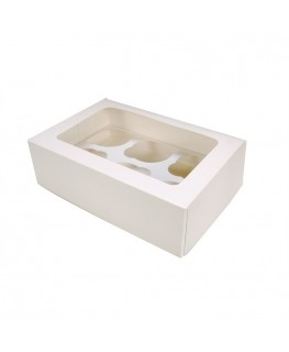 Culpitt White 6 Cupcake/Muffin Box