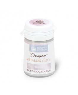 Squires Kitchen Designer Metallic Lustre Dust Silver 4g