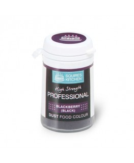 Squires Kitchen Professional Food Colour Dust Blackberry Black 4g