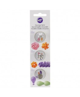 Wilton Round and Star Extra Large Tip Set 3pc
