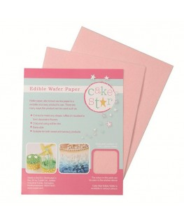 Cake Star Wafer Paper - Pink 12pk
