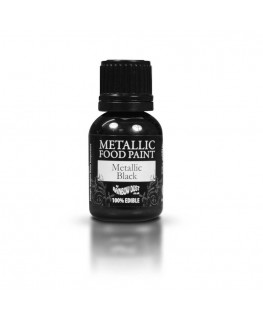 Rainbow Dust Metallic Food Paint Black 25ml