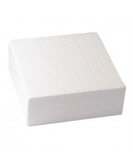 "Culpitt 8"" Square Cake Dummy (3"" Deep) (Straight Edge)"