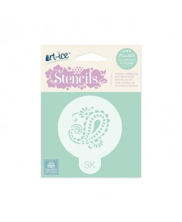 Squires Kitchen Art-ice Stencil Round Paisley