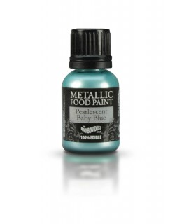 Rainbow Dust Metallic Food Paint Pearlescent Baby Blue 25ml