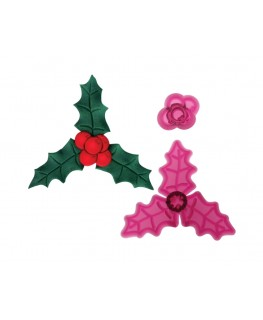 JEM Holly & Berries Cutter Set 2pc