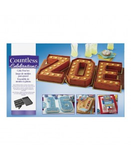 Wilton Countless Celebrations Letters & Numbers Non-Stick Cake Tin Set