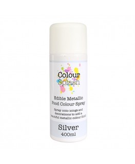 Colour Splash Edible Food Colour Spray Metallic Silver 400ml