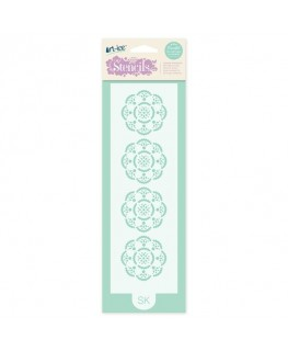 Squires Kitchen Art-ice Stencil Border Rosace
