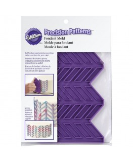 Wilton Silicone Precision Patterns Herringbone Fondant Mould