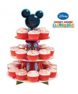 "Wilton 3 Tier Disney Mickey Mouse Clubhouse ""Mickey"" Cupcake Stand"