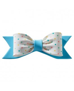 Culpitt Gumpaste Bow Pastel Blue Dots 150 x 50mm