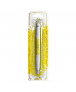 Rainbow Dust Double Sided Edible Food Pen - Yellow
