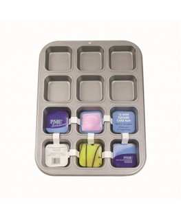 PME Non Stick 12 Mini Square Cake Pan 35 x 26.5 x 3cm
