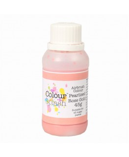 Colour Splash Edible Airbrush Colour - Pearl Rose Gold 45g