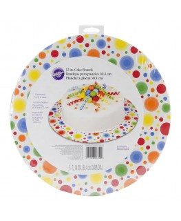 "Wilton Multi-Coloured Circles 12"" Round Cake Boards 3pk"
