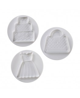 Pavoni Wedding Plunger Cutter Set 3pc